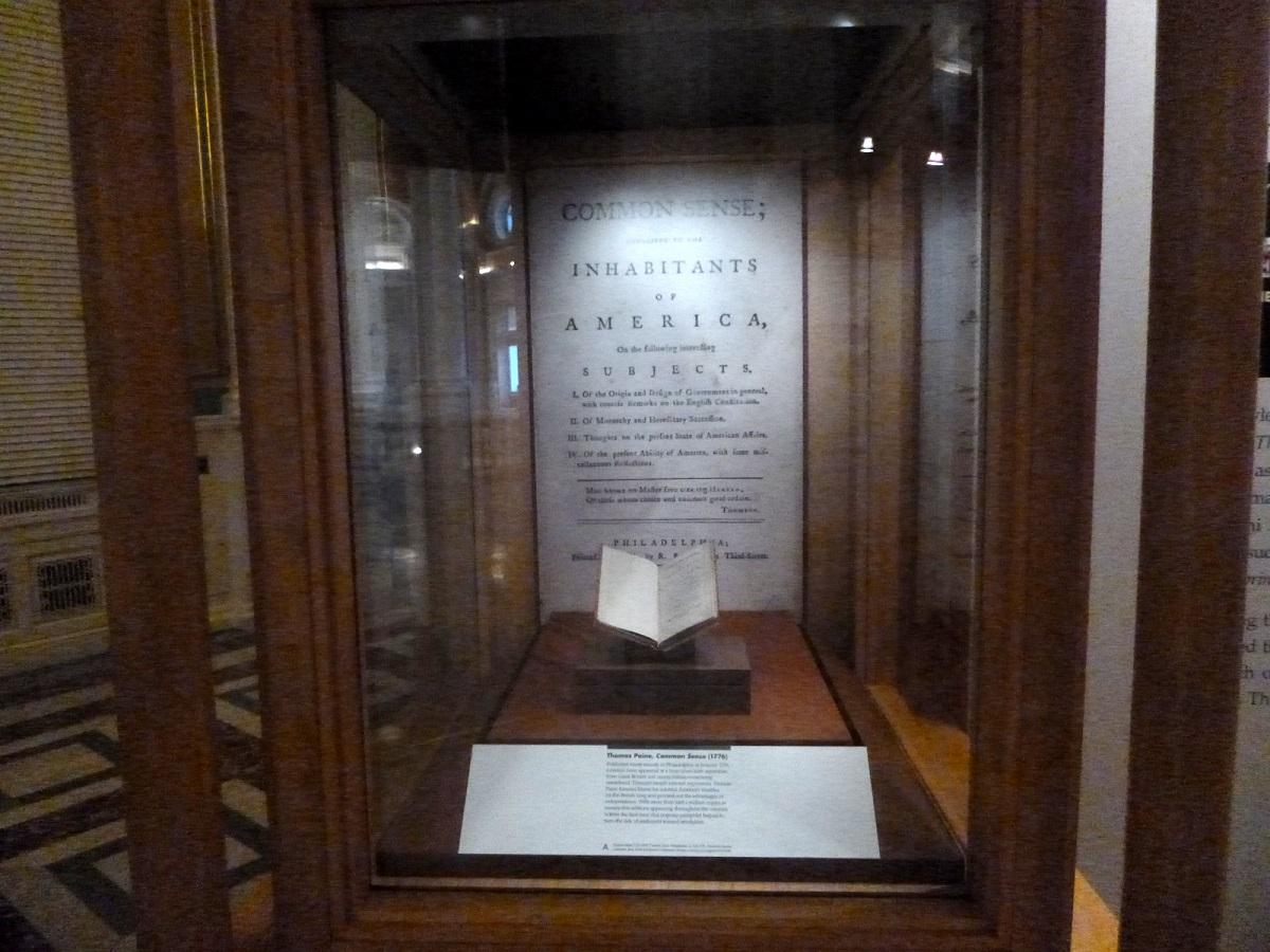 2 Common Sence (1776) van Thomas Pain, oudste en orriginele uitgave van dit historische boek