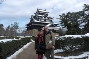 08 .daar staan we dan ..in Japan! voor Matsue Castle