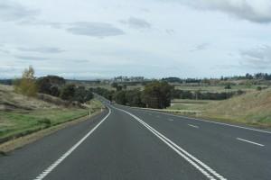 21 De Midland Highway richting Hobart,