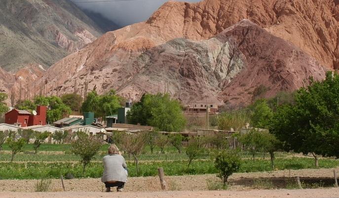 Purmamarca de berg met de zeven kleuren