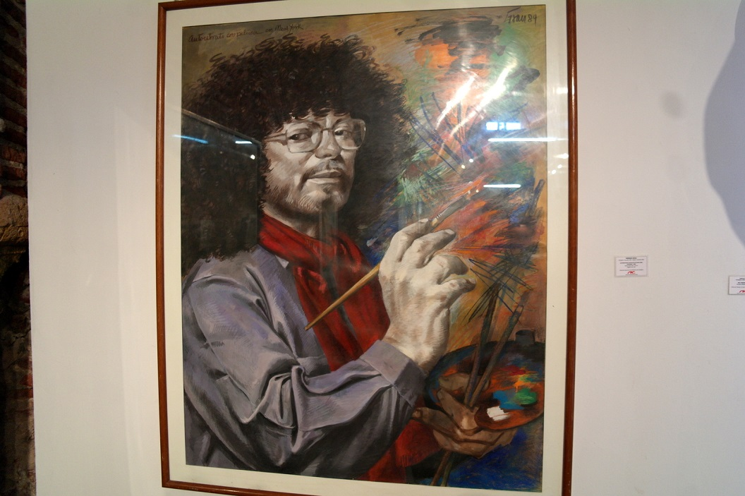 45 zelfportret - 1984 - van Enrique Grau (Cartagena 1920 - Bogota 2004)
