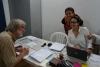 01 in het kantoor van Enlance Caribe Ltda - tekenen van de opdracht voor de verscheping van onze VW bus van Cartagena naar Panama