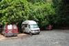 38 we staan met drie kampertjes op de Camping parkeerplaats van het Parque Nacional Natural Tayrona
