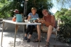 43 ontbijt op de Camping Edgar en Anna in Santa Ana, onze laatste overnachtingsplaats in Mexico voor we de grens zullen overgaan naar de USA SAM_1147