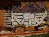 21 muurschildering, Alta, feestgangers op weg van of naar de kust