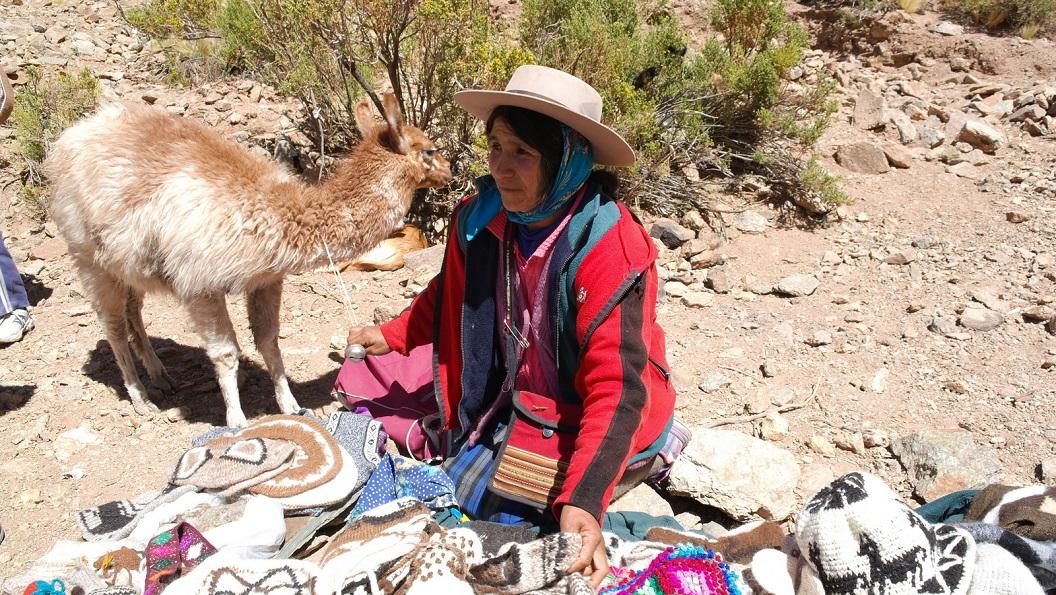26 verkoop van eigen gemaakte mutsen, sjaals, pantoffels, tasjes etc. van lamawol