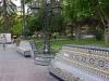 09 Plaza Espana, een park met prachtige banken, ornamenten en gedenkplaats gedecoreerd met historisch tegelwerk