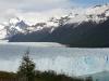10 de gletsjertong schuift met een snelheid van 40 cm per dag het Lago Argentino in