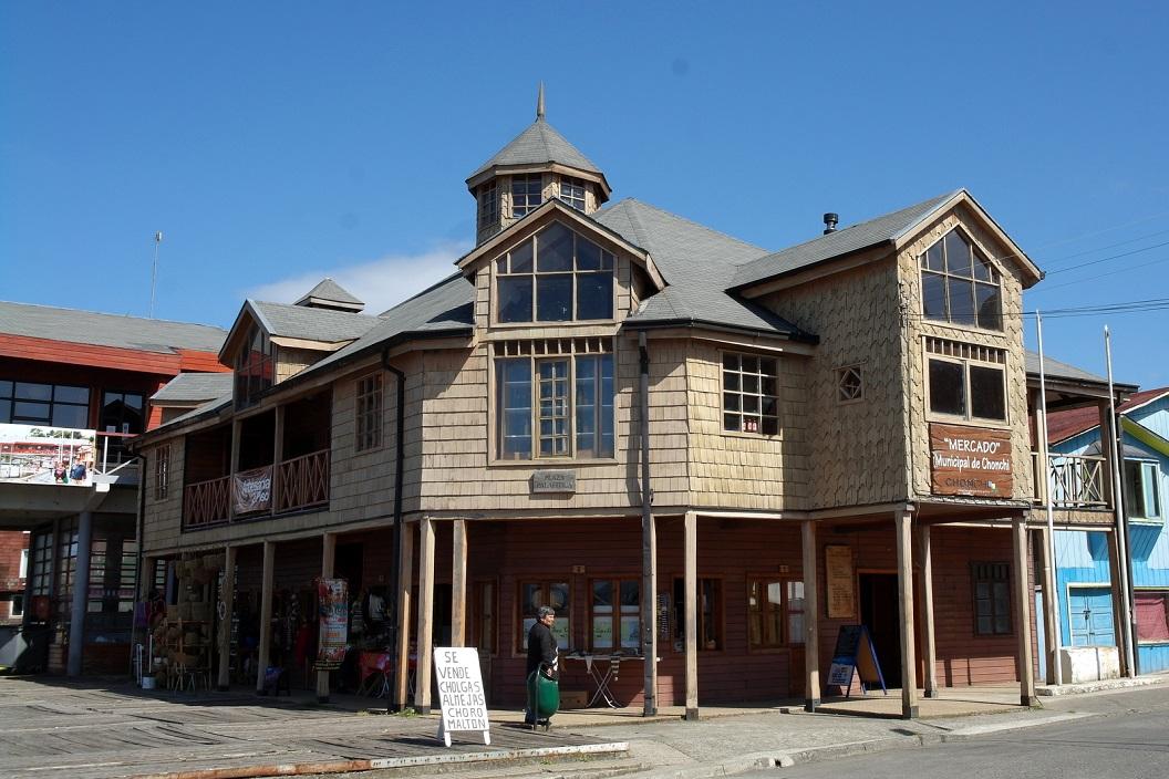 32 Mercado Municipal de Chonchi in de namiddag