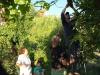 23 vlierbloesem uit eigen tuin, Marco en Wim helpen bij plukken van de hoogste bloesems