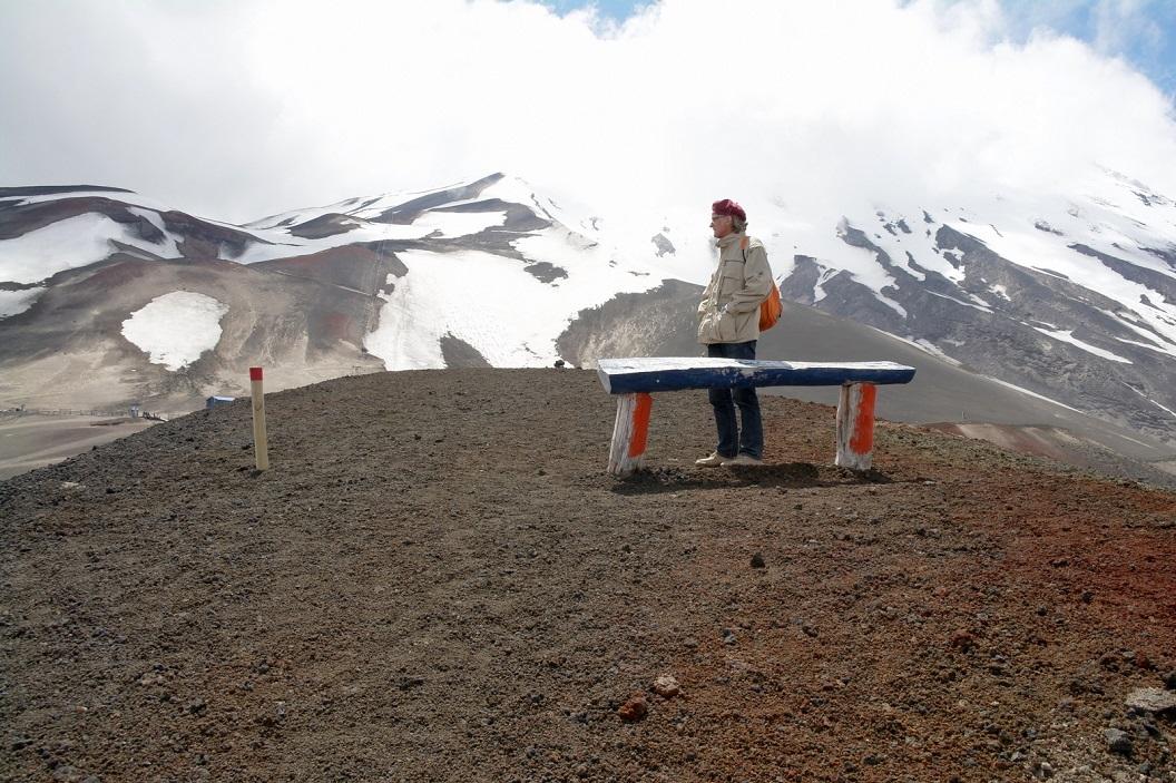 46 op het hoogst haalbare toegestane puntje, ondanks dat Volcan Osorno haar top vandaag niet laat zien, een prachtig uitzicht