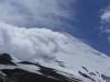 Top van vulkaan Osorno nog steeds in de wolken