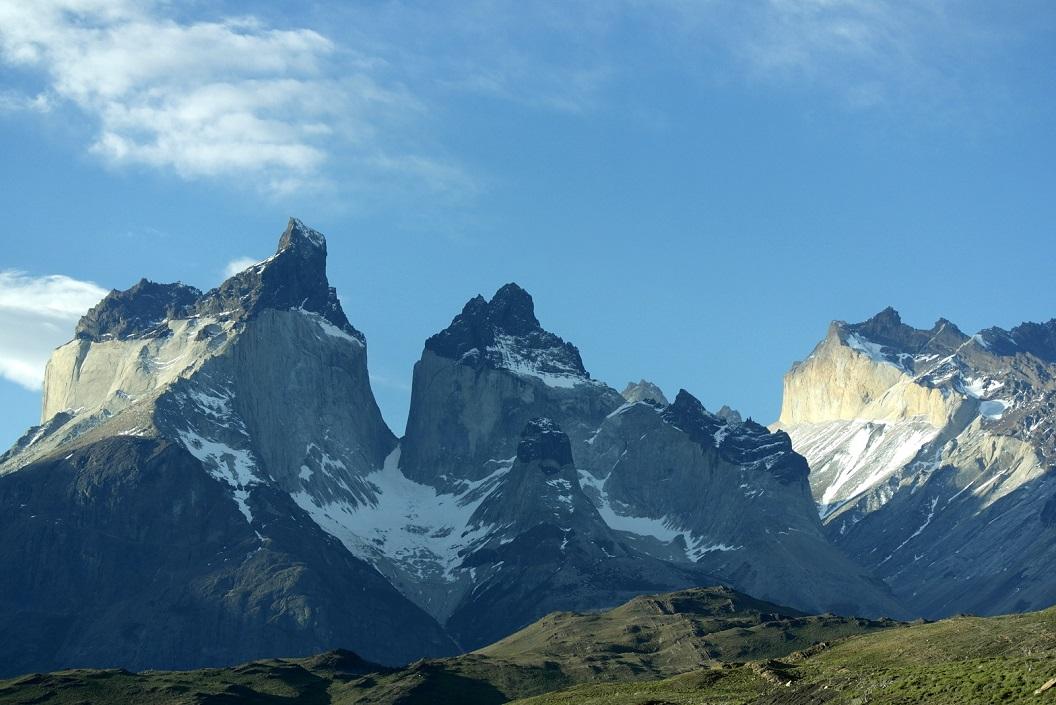06 de Torres del Paine in de vroege vooravond in volle glorie