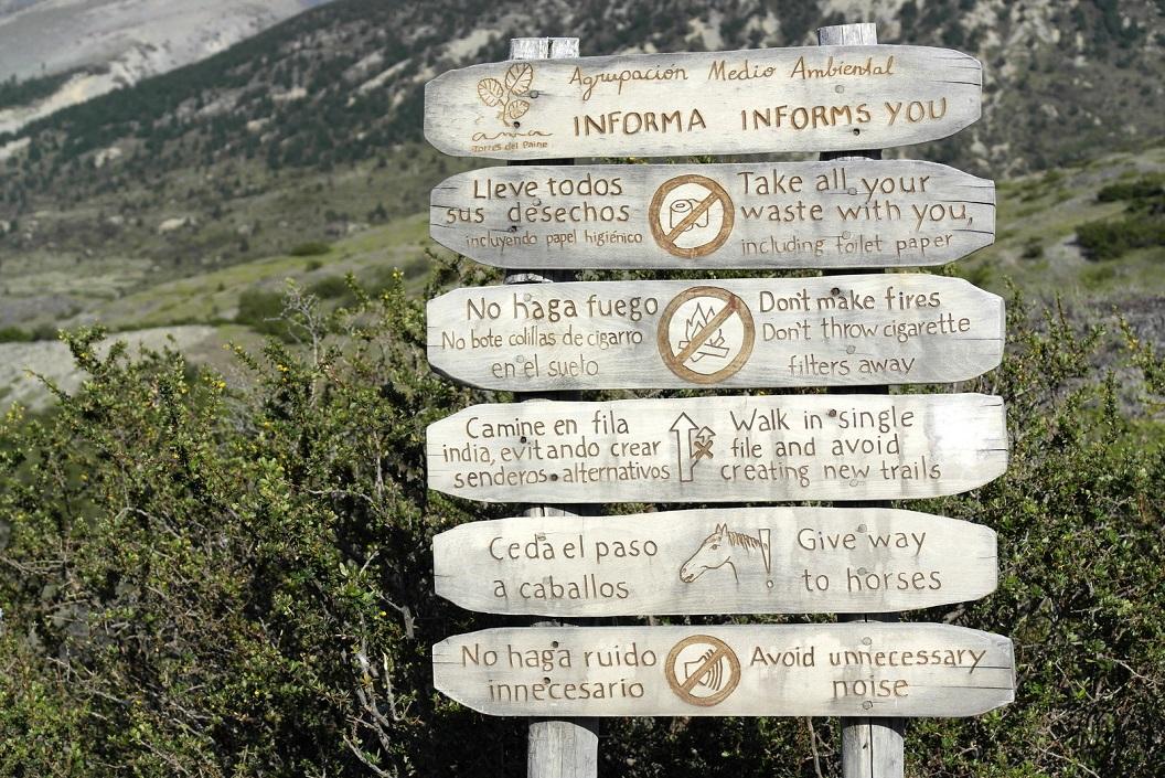 18 aanwijzingen tijdens onze wandeling van 5 uur naar Refugio y Campamento Chileno - Base de Las Torres