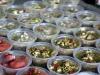 18 Ceviche, mix van zeevruchten, schaal en schelpdieren, vers opgediend