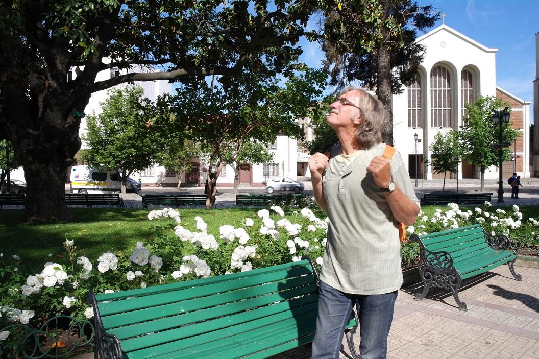 10 wandeling in het parkje van de Plaza in het centrum van Talca