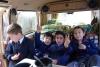 38 stoere jongens, genieten en zouden het liefs in het busje blijven!