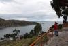 09 uitzichtpunt over het Titicacameer, het Titicacameer is het op één na grootste meer van Zuid-Amerika, met een oppervlakte van 8340 km².