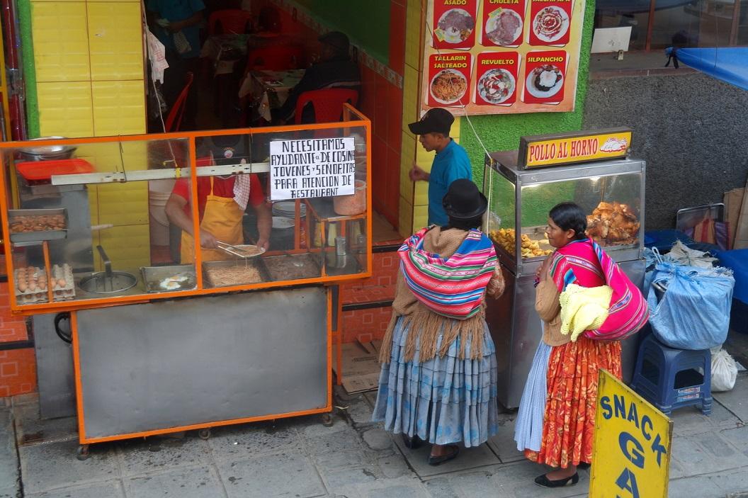 27 SNACKS verkoop in La Paz