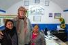 29 onze stadsrondwandeling besproken, links onze rondleidster Marlene Quispe en rechts Helen Rios de eigenaresse van Amigos de Bolivia