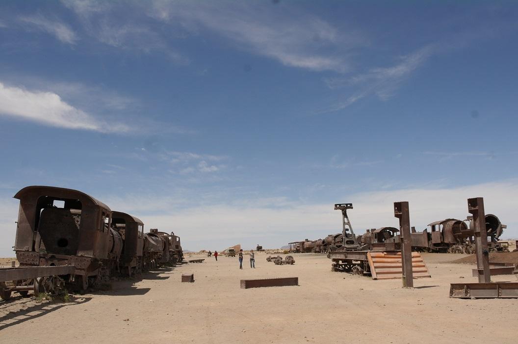 42 Een grote collectie historische stoomtreinen en treinwagons, vnl gebruikt in de mijnindustrie. Men wilde hier een museum oprichten doch blijft een droom, men laat ze hier rusten