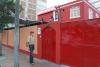59 we logeren met ons busje in het Hitchhikers Backpackers Hostel in Miaflores, Lima