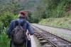 55 langs het spoor wandelen we terug naar Hidroelectrica, een wandeling van ruim drie uur