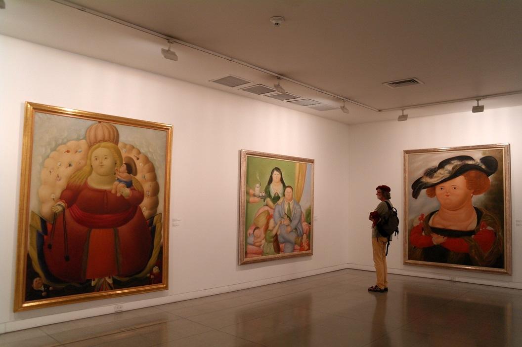 30 in het Museum van Antioquia worden 108 meester kunstwerken tentoongesteld van de meester Fernando Botero