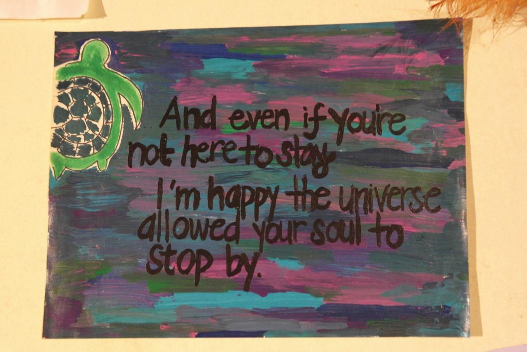 43 poster in het vrijwilligershuis van ASTOP Save the Turtles of Parismina SAM_5105