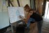 03 Coordinator Vicky maakt de taakverdeling voor de patrouilles, 1 ervaren gids met 2- 3 vrijwilligers - groep van 20.00u-24.00u + groep van 24.00u tot 04.00u AM_5097