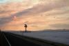 02 prachtige route bij ondergaande zon - DWight D eisenhower HWY 80 - Great Salt Lake Desert - Utah - richting Nevada SAM_7358