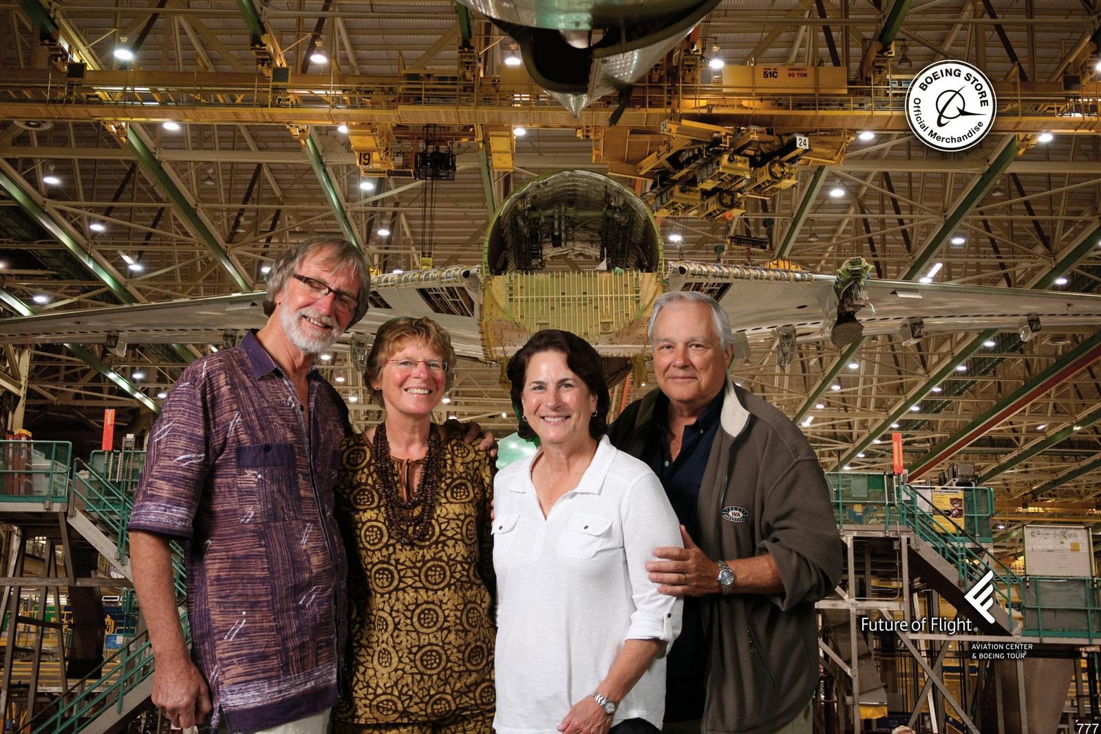 29 interessante excursie bij Boeing Factory in Seattle samen met Gregg en Diane