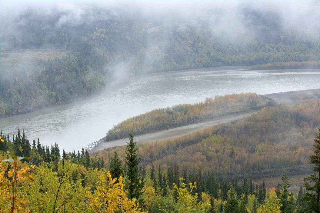 04 we rijden op Top of the World Highway richting Alaska - prachtige Panorama´s SAM_0927