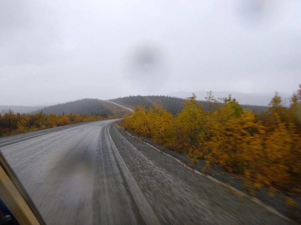 08 Top of the World Highway richting Alaska - hier nu volop herfstkleuren - prachtige route P1020918