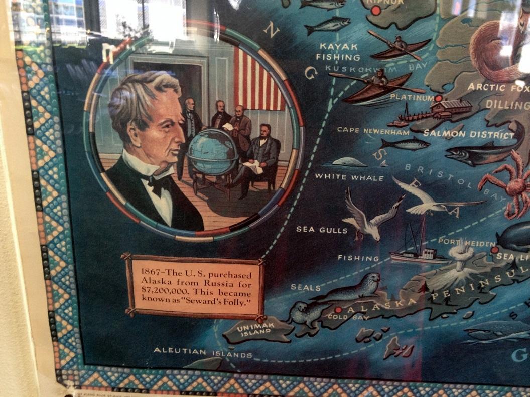 31 in1876 kocht de US, voor 7.2000.000 Dollars, Alaska van Rusland IMG_5496