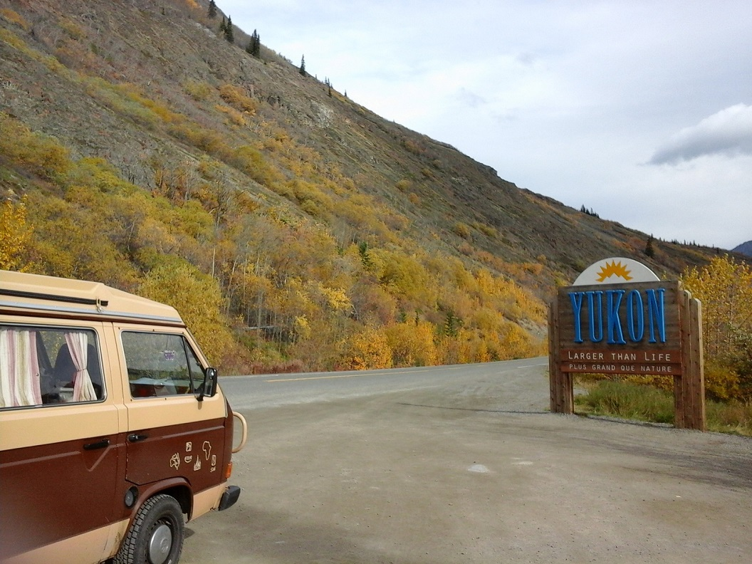 45 terug in Canada - Yukon - rijden over de Klondike Hwy prachtig in de herfstkleuren 20160921_124502