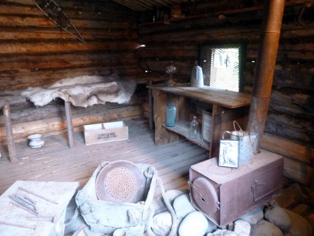 25 Jack´s log Cabin - in 1969 gerestaureerd - Jack London Museum P1020879