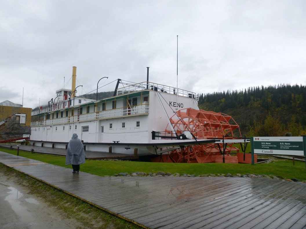 30 SS Keno , nu National Historic Site of Canada - Dawson City´s - Klondike Spirit aan de kade P1020885