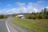 18 de Nisutlin Bridge over de Teslin River bij Teslin. De langste brug op deze route - de Alaska Highway SAM_0735