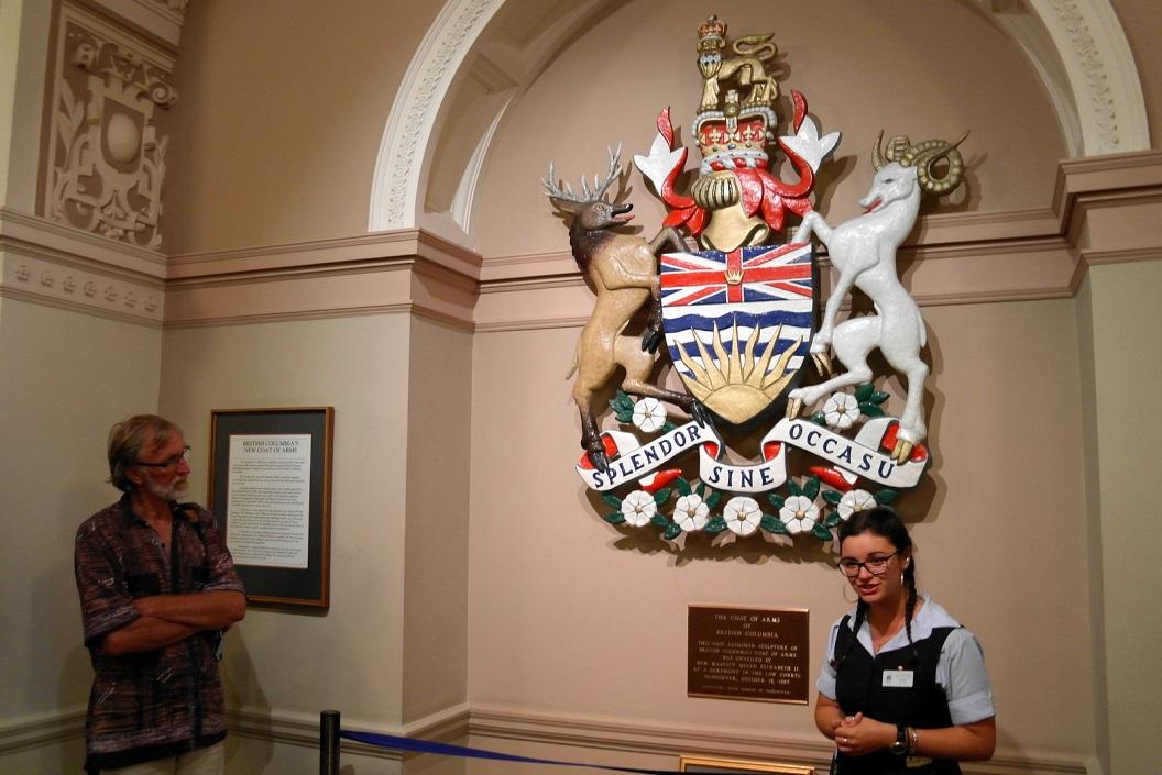 24 British Columbia Coat of Arms - het wapen van Britisch Colubia sinds 1887 SAM_9143