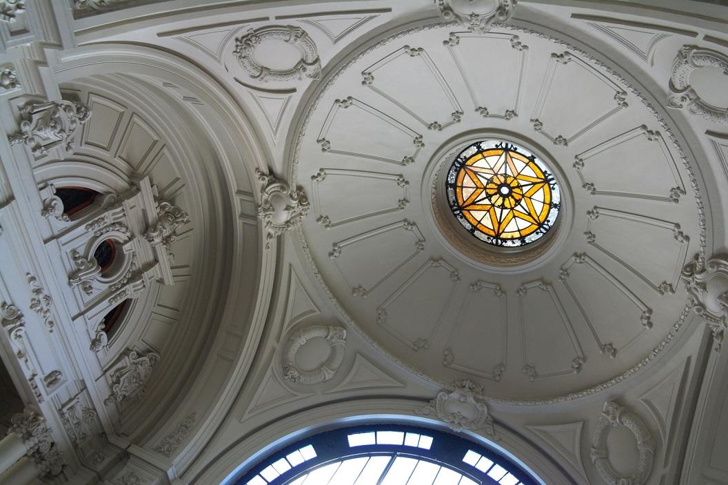 16 detail van plafond in de hal Estacion Mapocho (1912)