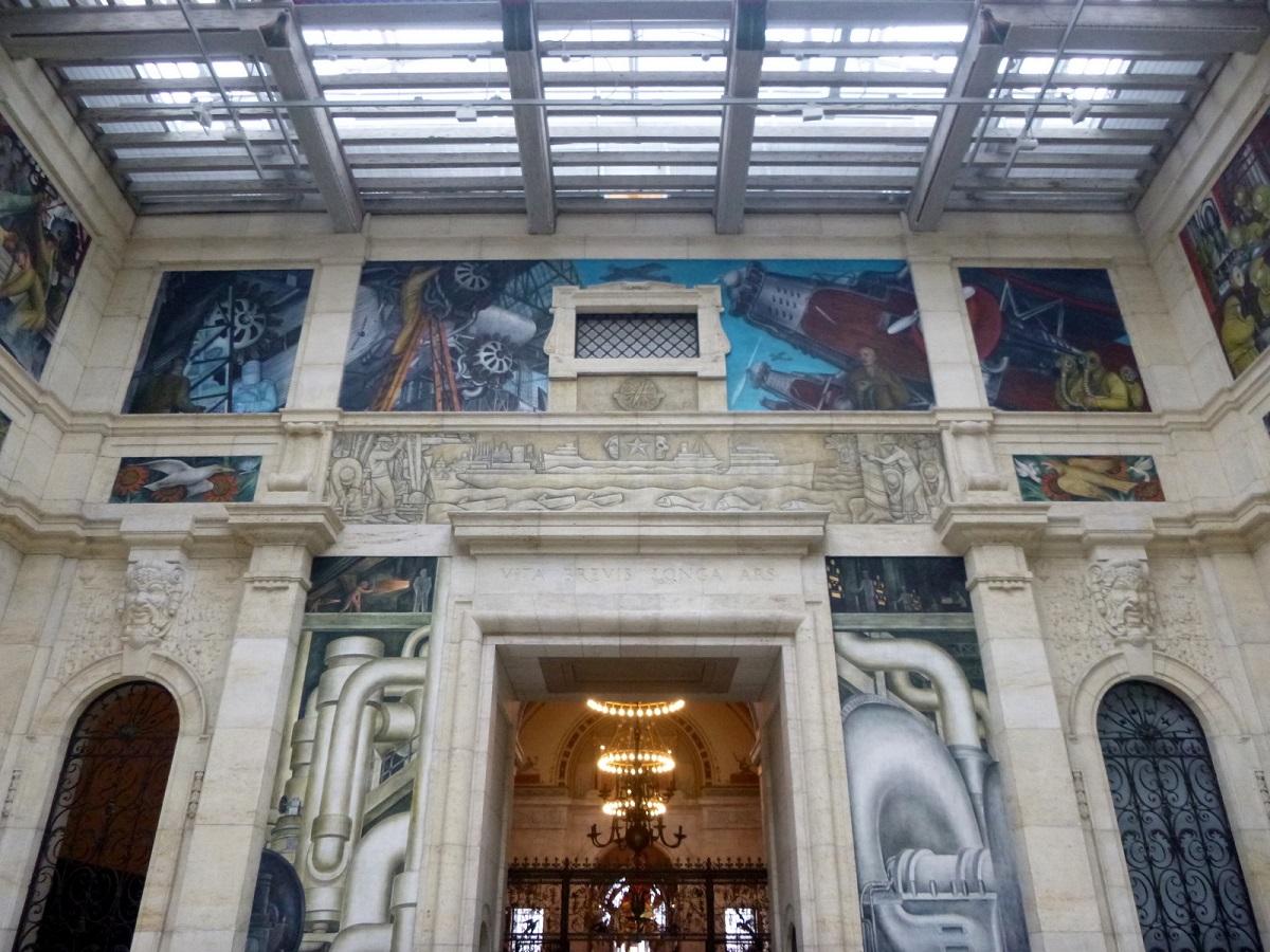 27 de westwand The Detroit Industry Murals van Diego Rivera (1886-1957)