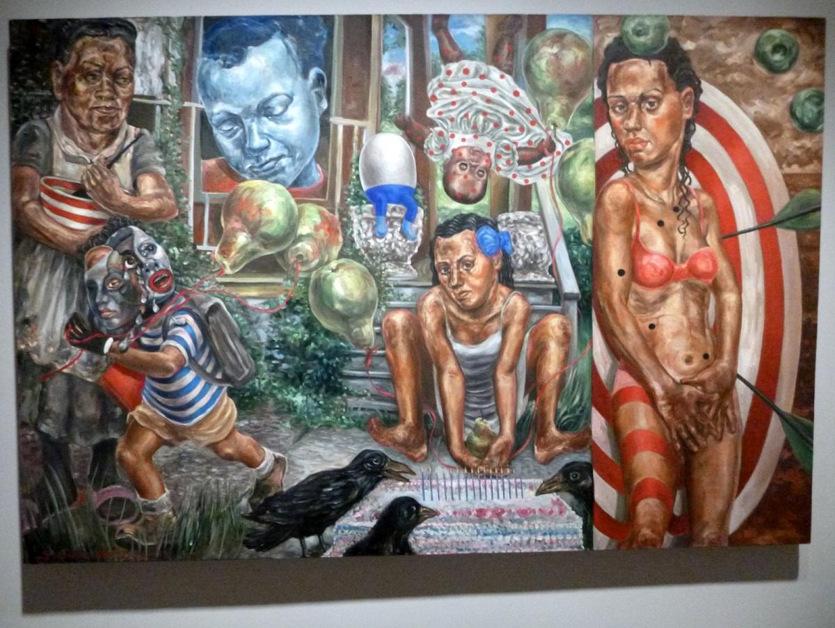35 Little Girl Blue (2008 -Stefanie Jackson) schildering van een jonge vrouw die in 1970 vermoord is in haar huis inDetroit