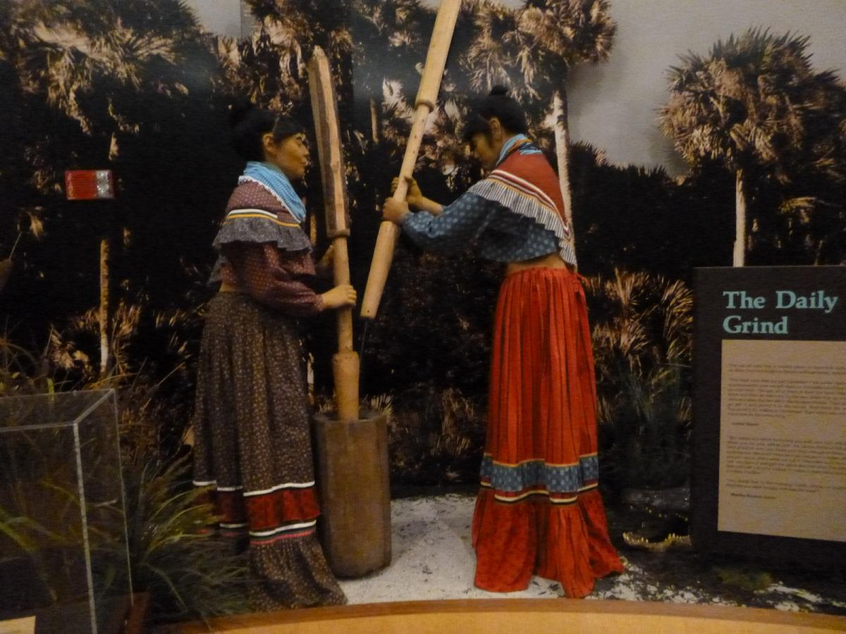 32 in het museum, aandacht voor de Seminole Indian Cultuur