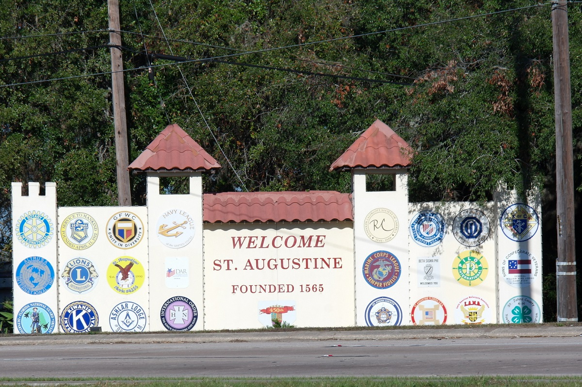 1 Welcome to St. Augustine, founded in 1565, oudste stadje van Florida – in de USA