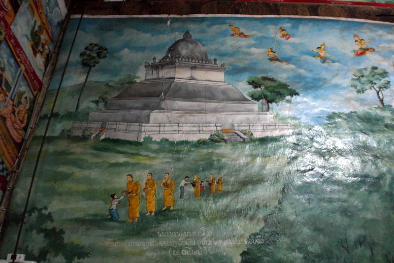 418-en-een-historische-schildering-van-morning-alms-giving-op-dit-tempel-terrein