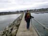 - 3oC - op de pier met zicht op Lake City - aan de Great River Road