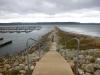 wandeling over de pier - Lake City - geboorteplaats van het waterskiën - aan de Mississippi