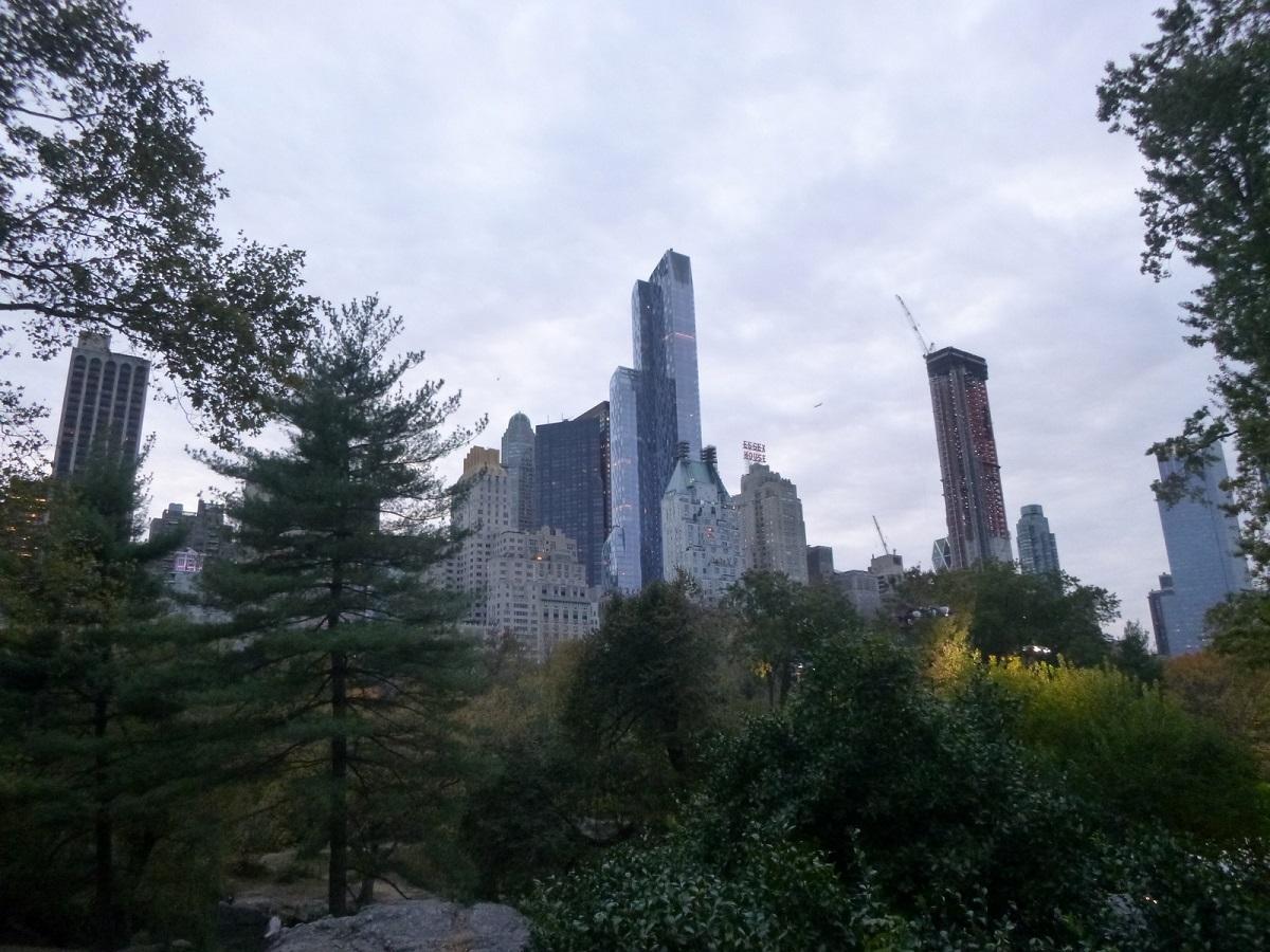 21 vanuit Central park zicht op New York City