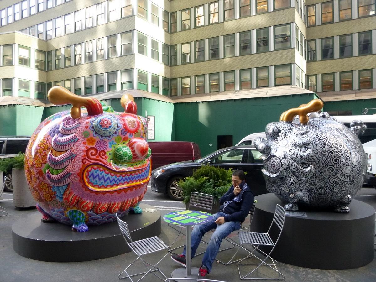 6 Fancy Annimal Carnival door Hung Yi, vrolijke kleurige wandeling door Broadway